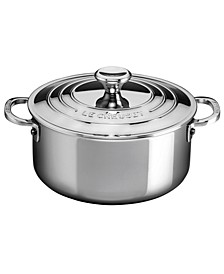 Stainless Steel 3.2-Qt. Shallow Casserole with Lid