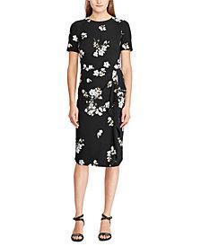 Lauren Ralph Lauren Floral-Print Ruffle-Trim Short-Sleeve Dress