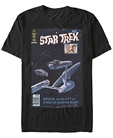 Star Trek Men's The Original Series Retro Spock Vs. Slott Comic Short Sleeve T-Shirt