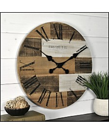 """Firstime & Co 18"""" Pallets Wall Clock"""