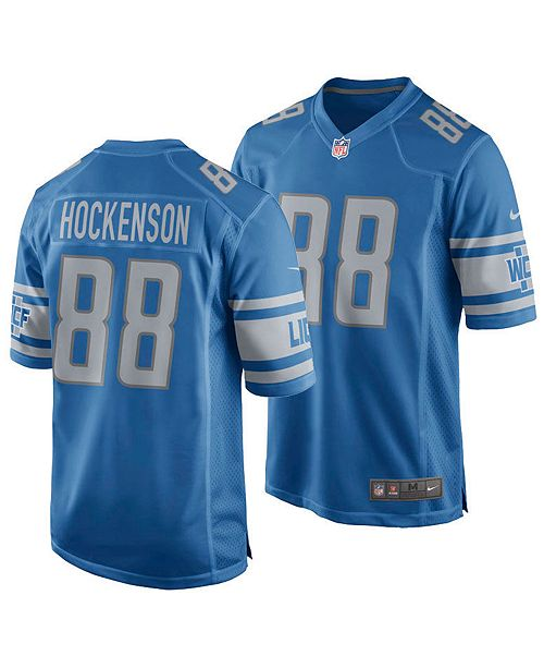 1febf693 Men's T.J. Hockenson Detroit Lions Game Jersey