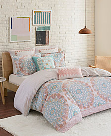Echo Design Simona King 3 Piece Reversible Cotton Duvet Cover Set