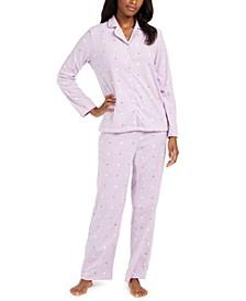 Women's Petite Cozy Fleece Pajama Set, Created for Macy's