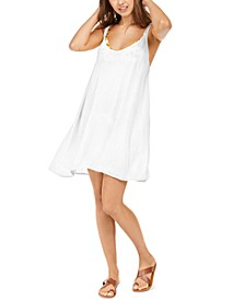 Juniors' Solid Chillday Cover-Up Dress