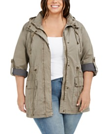 Levi's® Trendy Plus Size Hooded Fishtail Jacket