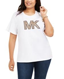 Michael Michael Kors Plus Size Cotton Printed-Logo T-Shirt