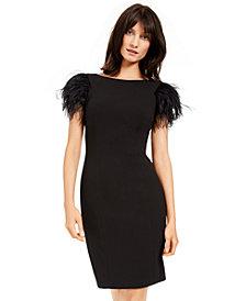 Calvin Klein Faux-Feather Sheath Dress