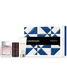 Calvin Klein Men's 3-Pc. Euphoria Gift Set