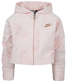 Nike Little Girls Logo Hoodie