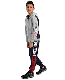 Big Boys Tim Icon Colorblocked Logo Hoodie & Chaka Logo-Print Sweatpants