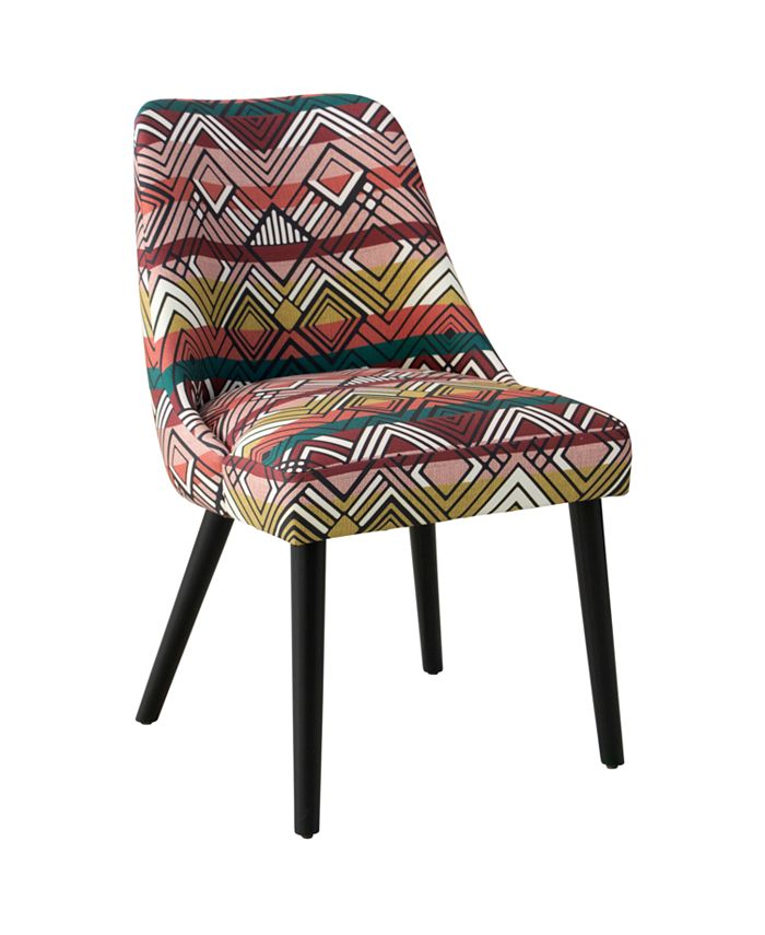 Skyline - Halsted Rounded Back Dining Chair, Quick Ship