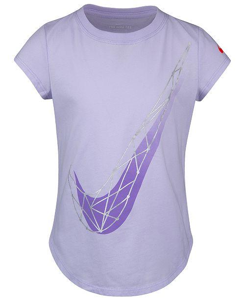 Nike Toddler Girls Geo Swoosh-Print Cotton T-Shirt