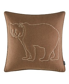 Eddie Bauer Bear Lines Felt Throw Pillow