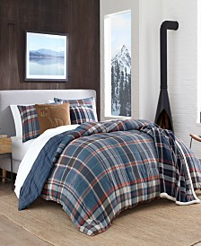 Eddie Bauer Shasta Lake Navy Comforter Set, Full/Queen