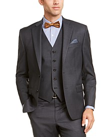 Men's Classic-Fit UltraFlex Stretch Gray Suit Jacket