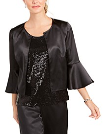 Satin Jacket & Sequined Tank Top Twinset, Created for Macy's