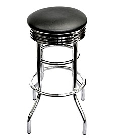 Chrome Swivel Stool, 2 Pack