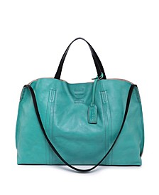 Forest Island Leather Tote Bag