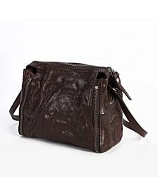 Leek-Leather Crossbody Bag