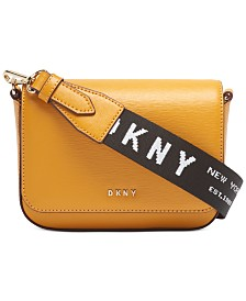 DKNY Anna Flap Leather Crossbody, Created for Macy's