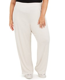 Ideology Plus Size Wide-Leg Sweatpants, Created For Macy's