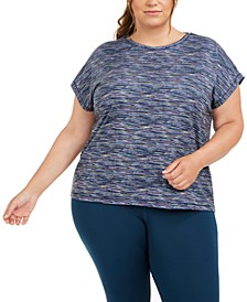 Plus Size Printed Dolman-Sleeve T-Shirt, Created for Macy's