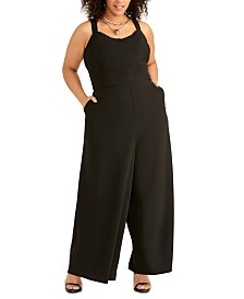RACHEL Rachel Roy Plus Size Wide-Leg Jumpsuit