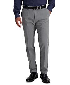 Haggar Men's Premium Slim-Fit Performance Stretch Non-Iron Flat-Front Dress Pants