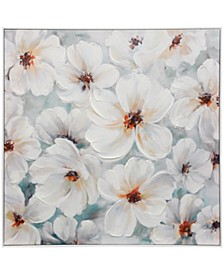 Healthy Bloom Textured Hand Embellished Canvas Stretched and Framed