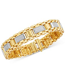 Men's Diamond Cluster Watch Link Bracelet (1-1/2 ct. t.w.) in 10k Gold