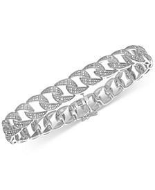 Men's Diamond Link Bracelet (1 ct. t.w.) in Sterling Silver
