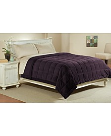 Microfiber Reversible Blanket Soft Plush to Satin Cool, King