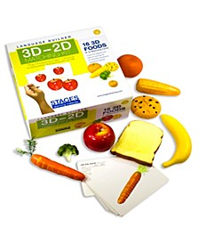 Language Builder - 3D-2D Matching Kit, Foods