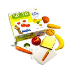 Stages Learning Materials Language Builder - 3D-2D Matching Kit, Foods