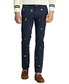 Polo Ralph Lauren Men's Cotton Twill Bedford Flat Pants