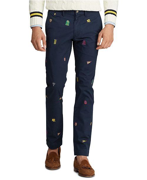 Polo Ralph Lauren Men's Cotton Twill Bedford Stretch Flat Pants