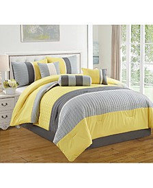 Casares 7 Piece Comforter Set, Queen