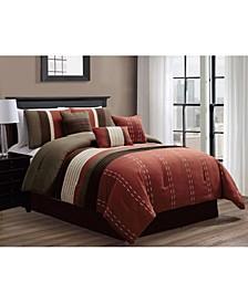 Kastner 7 Piece Comforter Set, Queen