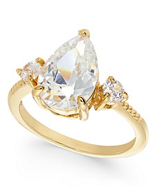 Gold-Tone Crystal Triple-Stone Ring, Created For Macy's