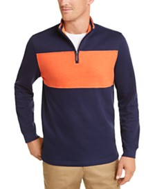 Club Room Men's Quarter-Zip French Rib Sweater, Created for Macy's