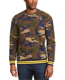 Club Room Men's Varsity Camo Crewneck Sweatshirt, Created for Macy's