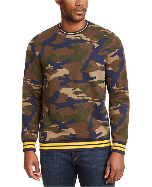 Club Room Men's Varsity Camo Crewneck Sweatshirt, Created for Macy's