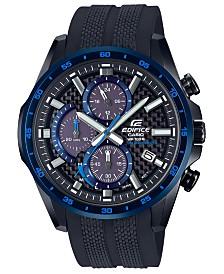 G-Shock Men's Solar Edifice Black Resin Strap Watch 47.6mm