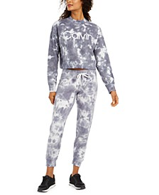 Tie-Dyed Cropped Sweatshirt & Joggers