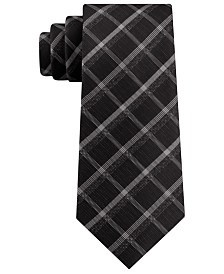Kenneth Cole Reaction Men's Stone Classic Plaid Tie