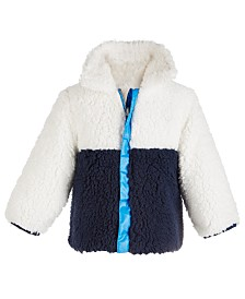 First Impressions Baby Girls Reversible Colorblocked Jacket, Created for Macy's