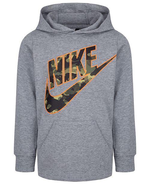 Nike Little Boys Camo Logo-Print Cotton Hoodie