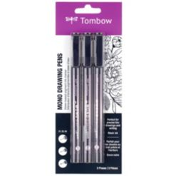 Tombow Mono Drawing Pens, 3-Pack