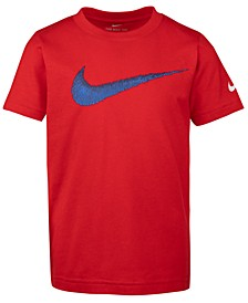 Little Boys Swoosh-Print Cotton T-Shirt
