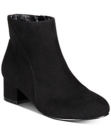 I.N.C. Girls Floriann Block-Heel Booties, Created for Macy's